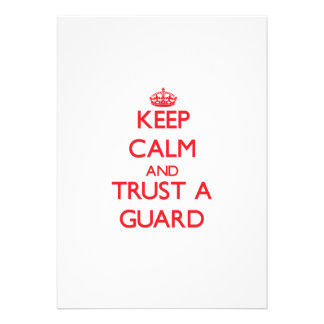 Keep Calm and Trust a Guard Personalized Invitation