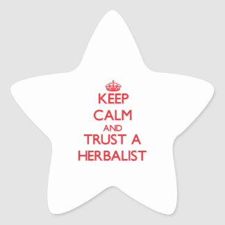 Keep Calm and Trust a Herbalist Star Stickers