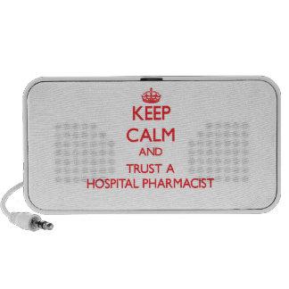 Keep Calm and Trust a Hospital Pharmacist Portable Speaker