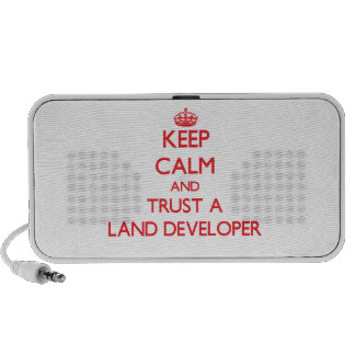 Keep Calm and Trust a Land Developer Notebook Speakers