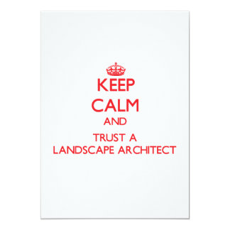 Keep Calm and Trust a Landscape Architect Custom Announcement
