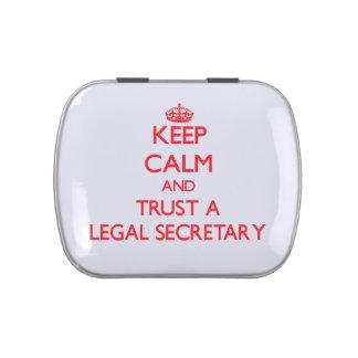 Keep Calm and Trust a Legal Secretary Candy Tin