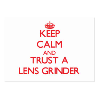 Keep Calm and Trust a Lens Grinder Business Cards