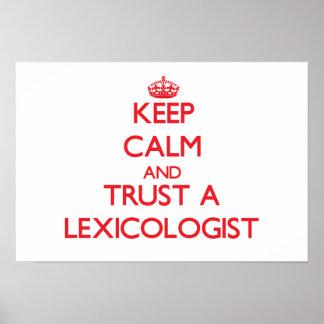Keep Calm and Trust a Lexicologist Print