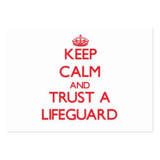 Keep Calm and Trust a Lifeguard Business Cards