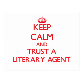 Keep Calm and Trust a Literary Agent Postcard