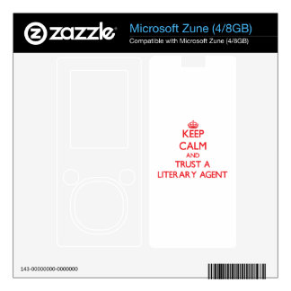 Keep Calm and Trust a Literary Agent Decals For The Zune