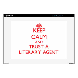 """Keep Calm and Trust a Literary Agent 15"""" Laptop Decal"""
