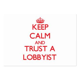 Keep Calm and Trust a Lobbyist Business Card