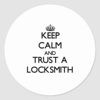Keep Calm and Trust a Locksmith Stickers