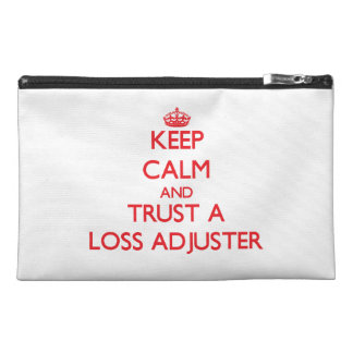 Keep Calm and Trust a Loss Adjuster Travel Accessory Bags