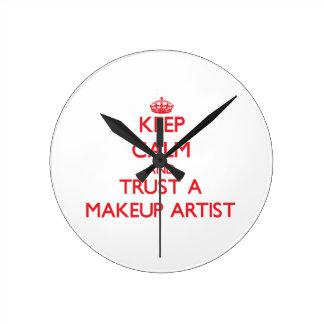 Keep Calm and Trust a Makeup Artist Round Clock
