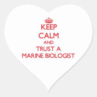 Keep Calm and Trust a Marine Biologist Heart Sticker