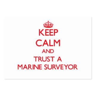 Keep Calm and Trust a Marine Surveyor Business Cards