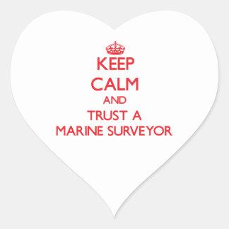 Keep Calm and Trust a Marine Surveyor Heart Stickers