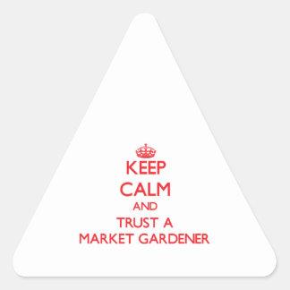 Keep Calm and Trust a Market Gardener Stickers