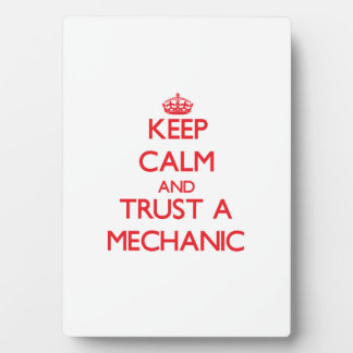 Keep Calm and Trust a Mechanic Plaques