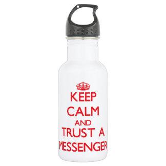 Keep Calm and Trust a Messenger 18oz Water Bottle
