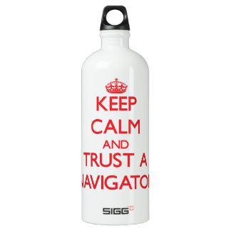 Keep Calm and Trust a Navigator SIGG Traveler 1.0L Water Bottle