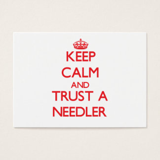 Keep Calm and Trust a Needler Business Card
