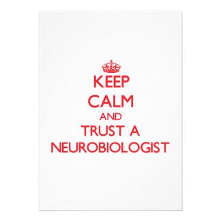 Keep Calm and Trust a Neurobiologist Card
