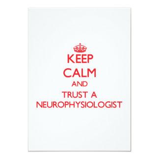Keep Calm and Trust a Neurophysiologist Custom Announcements