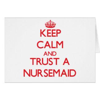 Keep Calm and Trust a Nursemaid Cards