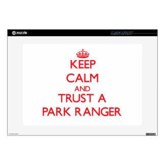 Keep Calm and Trust a Park Ranger Laptop Decal