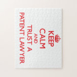 Keep Calm and Trust a Patent Lawyer Puzzle