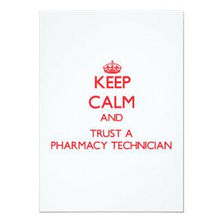 Keep Calm and Trust a Pharmacy Technician Custom Invites
