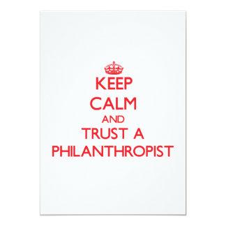 "Keep Calm and Trust a Philanthropist 5"" X 7"" Invitation Card"
