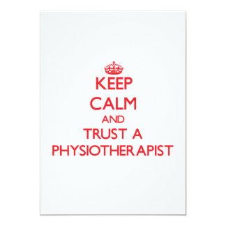 Keep Calm and Trust a Physioarapist 5x7 Paper Invitation Card