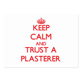 Keep Calm and Trust a Plasterer Business Card