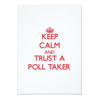 Keep Calm and Trust a Poll Taker Card