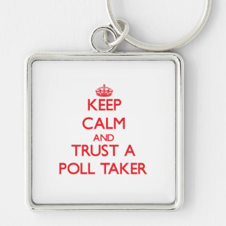 Keep Calm and Trust a Poll Taker Keychain