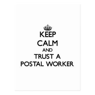 Keep Calm and Trust a Postal Worker Postcard