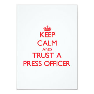 Keep Calm and Trust a Press Officer Invitations