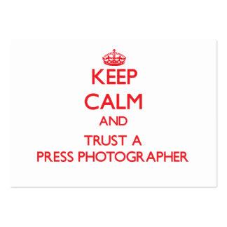 Keep Calm and Trust a Press Photographer Business Card Templates