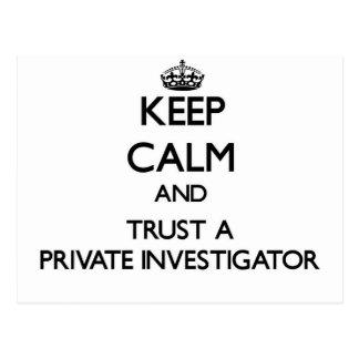 Keep Calm and Trust a Private Investigator Postcard
