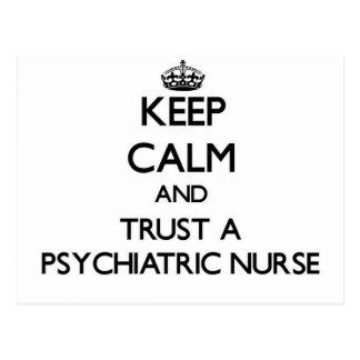 Keep Calm and Trust a Psychiatric Nurse Postcard