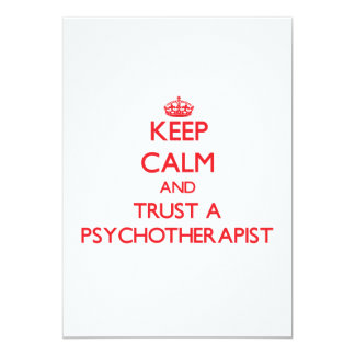Keep Calm and Trust a Psychoarapist Personalized Invites