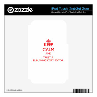 Keep Calm and Trust a Publishing Copy Editor Decal For iPod Touch 3G