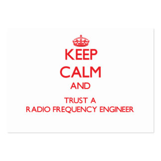 Keep Calm and Trust a Radio Frequency Engineer Large Business Cards (Pack Of 100)