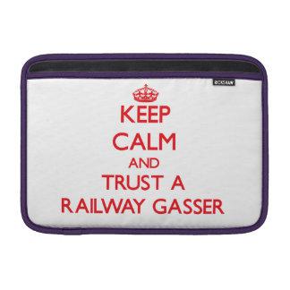 Keep Calm and Trust a Railway Gasser Sleeve For MacBook Air