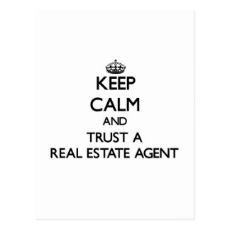 Keep Calm and Trust a Real Estate Agent Post Card