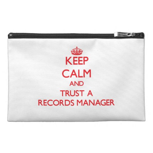 Keep Calm and Trust a Records Manager Travel Accessories Bags