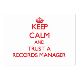 Keep Calm and Trust a Records Manager Business Card