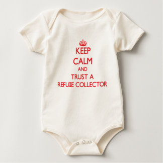 Keep Calm and Trust a Refuse Collector Baby Bodysuit