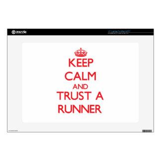 "Keep Calm and Trust a Runner 15"" Laptop Skin"