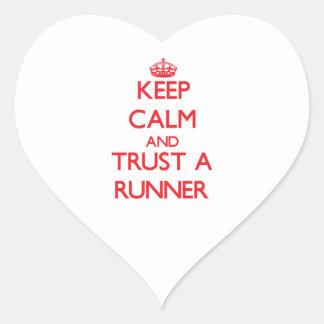 Keep Calm and Trust a Runner Heart Sticker